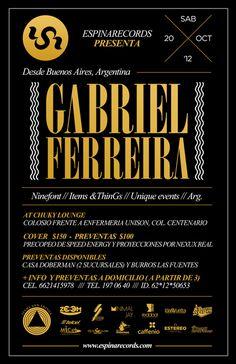 Espina Records #argentina #flyer #black #elegant #golden #poster #music #electronic
