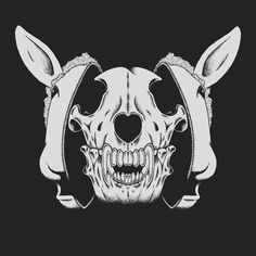 The Wolf in Sheep's Clothing by Estúdio Self #illustration #wolf #sheep #animal #skull