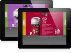 Tazo Life: Product Repositioning on the Behance Network #beverage #mockup #ipad #design #website #tazo #can #life