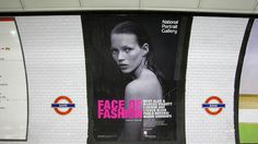 National Portrait Gallery, Face of Fashion Campaign | Thomas Manss & Company #print #design #poster #typography