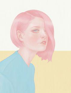 Fashion Illustration - Hsiao Ron Cheng #illustration #pastel #girl #portrait #hair #woman #art #design #painting