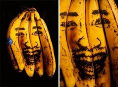 Kazuki Guzmán | Colossal #guzman #kazuki #bananas #illustration #needlework