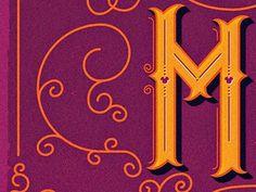 Dribbble - M by Adam Grason #typography