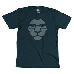 Mr. Lion #glasses #mark #clothing #leo #apparel #modern #lion #design #graphic #tshirt #shirt #clean #smart #illustration #minimal #tee #logo