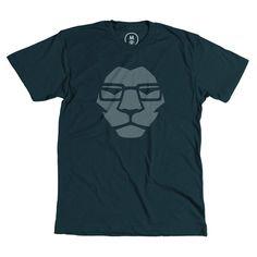 Mr. Lion #glasses #mark #clothing #leo #apparel #modern #lion #design #graphic #tshirt #shirt #clean #smart #illustration #minimal #tee #logo