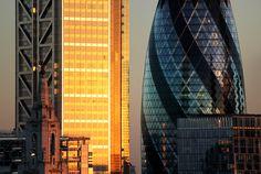 The Eyes of that Balcony by molistudio on Behance #urban #sun #london #orange #skycraper #architecture #sunset #gherkin