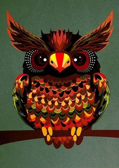 Galleria - Pingstate nro. 3 #illustration #owl