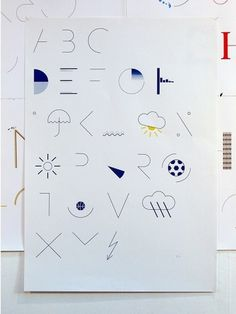 Felix Weigand - Alphabet (News), Typeface and poster, 2006
