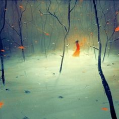 Autumn by ~tja88 on deviantART #women #trees #painting