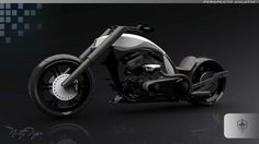 TT New Generation Chopper Motorbike #tech #modern #design #futuristic #craft #illustration #industrial #art