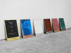 Lex Pott #silver #copper #erosion #posters #gold #signage #metal #typography