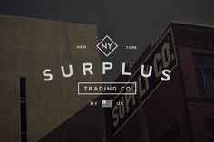 Surplus Trading Co. (Logo Template) by Hustle Supply Co. #mark #branding #iconography #icon #design #emblem #icons #texture #logo #crest #insignia #set #photoshop #abr #vintage #brush #type #ai #wordmark #typography