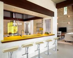 Open plan kitchen with modern design #interior #house #artistic #decor #art #paintings #residence