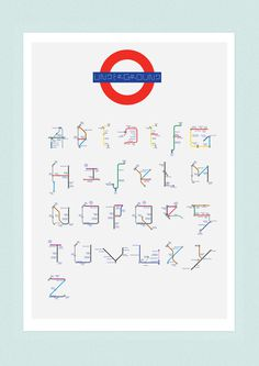 The London Underground Modular Typeface on Behance #lettering #london #tube #metro #typography