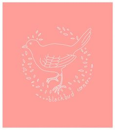 Augustine by Amanda #pink #illustration #line #bird