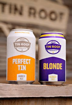 Tin Roof Beer #beer #packaging #design #label #minimal #package