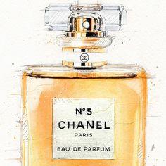 Chanel N°5 on Behance #watercolors