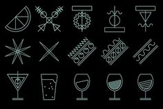 Betlem gastro bar on the Behance Network #lines #identity #icons