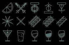 Betlem gastro bar on the Behance Network #lines #identity #icons