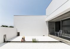 Courtyard with narrow basin. Courtyard House by FORM / Kouichi Kimura Architects. © Yoshihiro Asada. #courtyard #basin