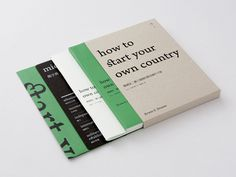 how to start your own country #editorial #book
