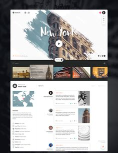 Web design, travel, new york