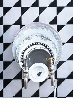 Inspiration: Grafisk grace | Elleinterior.se #interior #design #kitchen #deco #decoration