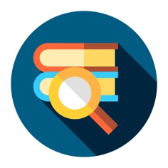 See more icon inspiration related to research, book, search, study, magnifying glass, library, books, education, literature, loupe, open book and reading on Flaticon.