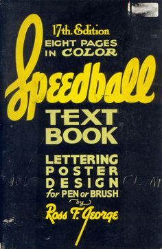 Typeverything.com...Speedball Textbook #cover #book #vintage #typography