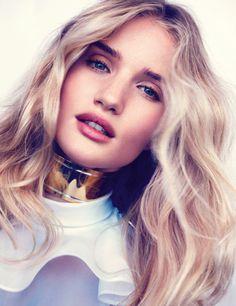 Rosie Huntington Whiteley by Michelangelo di Battista for Vogue Spain #model #girl #photography #portrait #fashion #beauty