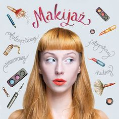 #makeup #fashion #lettering #illustration #graphicdesign #face #ginger illustration: Magic Suitcase | photo: Andrzej Blaszko