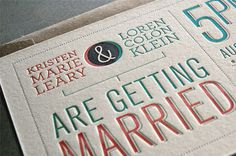 Kristen and Loren Wedding Invitation #type #wedding