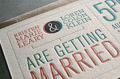 Kristen and Loren Wedding Invitation #type #wedding
