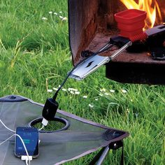 FlameStower Mobile Device Charger #tech #flow #gadget #gift #ideas #cool