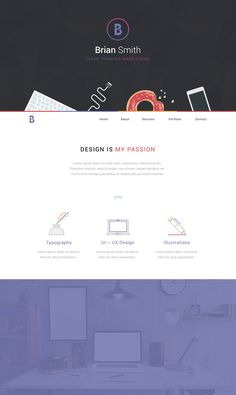 Portfolio Design by Handkraft #flat #ux #portfolio #design #ui #web