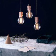 Triple Pendant Lamp - Copper - by marMORE #MONOQI #copper