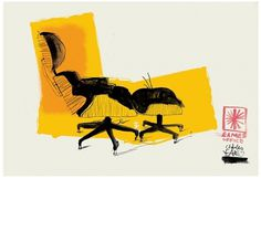PMA Associates #morgan #chair #office #illustration #patrick #eames