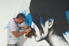 Stroke Urban Art Fair in Berlin | Hi Fructose Magazine #painting #process