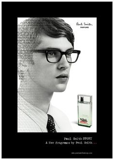 paul-smith-story-parfum.jpg (612×859) #glasses #white #boy #smith #advertisement #black #perfume #and #story #paul