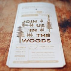 design work life » Christine & Ian's Wedding Invitations #invitation #woods #lasercut #wedding #invite