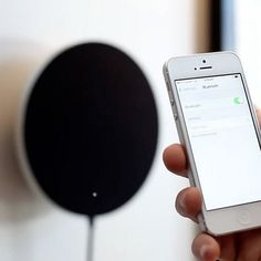 Admire the beauty of sound with this wireless, wall-hanging stereo system! #tech #product #design