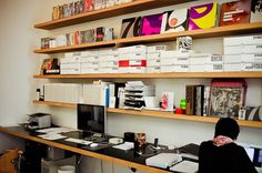 Graphic-ExchanGE - a selection of graphic projects #working #office #shelf #space