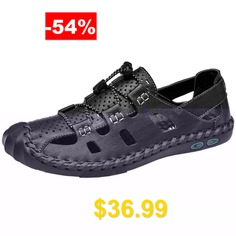 Men's #Breathable #Sandals #with #Durable #Rubber #Outsole #- #BLACK