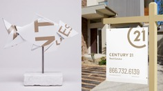 Mettle Trophies — Century 21 Trophies made from yard signs