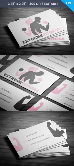 Free Unisex Gym Business Card Template