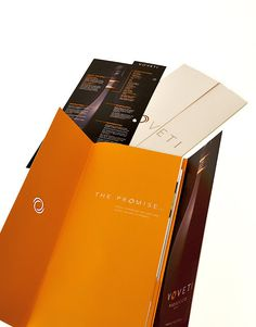 Voveti Wine Freixenet, Spain Brochure Spread 1 Italy #brochure #orange #marketing #voveti