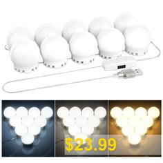 DIY #Vanity #Mirror #Lights #Bulbs #Kit #for #Lighted #Makeup #Dressing #Table #Mirror #LED #Lighting #Fixture