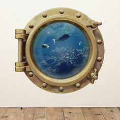 Underwater Porthole Wall Sticker #tech #flow #gadget #gift #ideas #cool