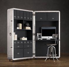 Blackhawk Secretary Trunk | Geek&Hype #furniture #desk #aluminum #function #portable #functional #secretary