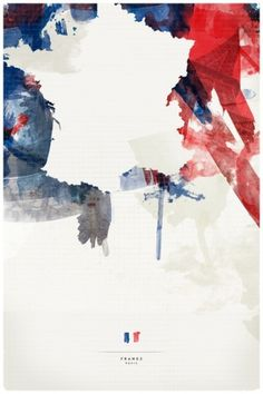 France Stretched Canvas by Jerod Gibson | Society6 #paint #graphic #country #map